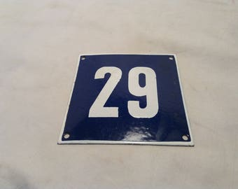Vintage Enamel House Number - Door Sign
