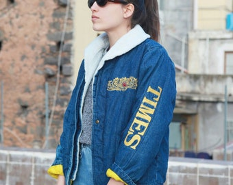 Vintage Rare denim jacket embroidered