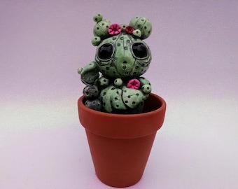 Cute Cactus Creature Sculpture