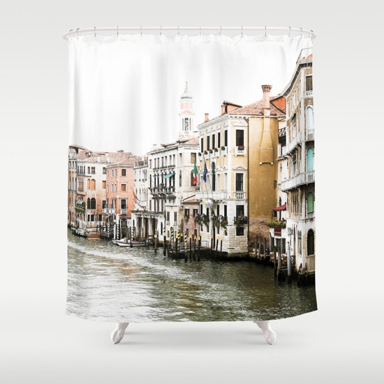 Italy Shower Curtain, Venice Shower Curtain, Grand Canal, Fabric Shower Curtain, Standard or Extra Long Shower Curtain, Housewarming Gifts