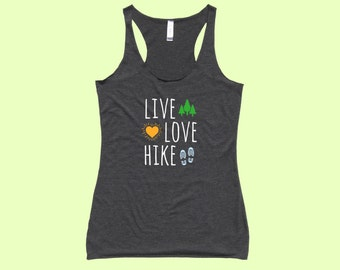 Live / Love / Hike - Fit or Flowy Hiking Tank
