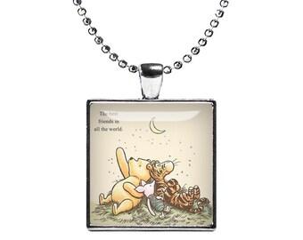 Winnie the Pooh Necklace Pendant Best Friends Fandom Jewelry Gift for best friend