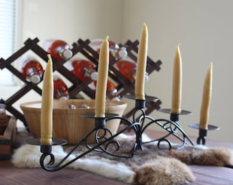 wrought Iron Candelabra for 5 candles. Altar - Decorations - Viking - longhall