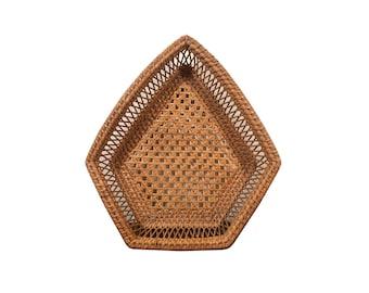 Bohemian Geometric Rattan Basket