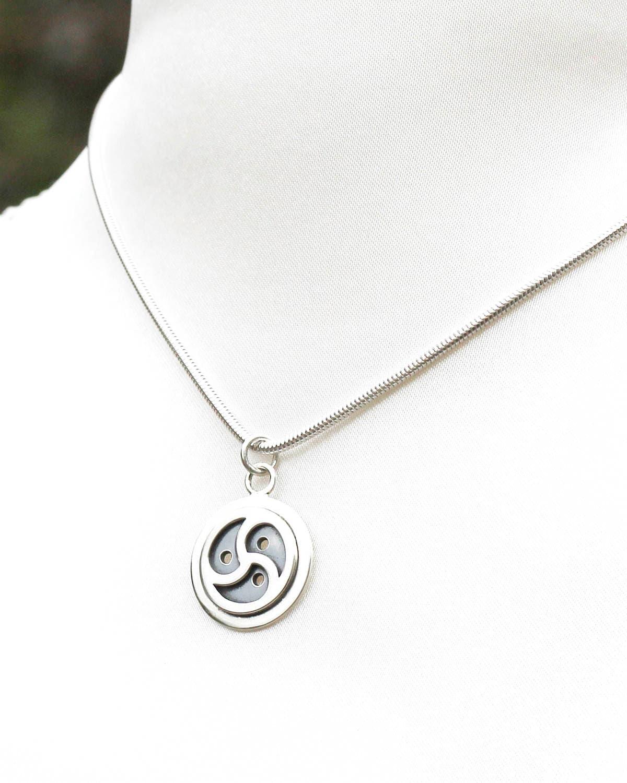 Sterling silver triskele bdsm symbol pendant bondage jewelry description bdsm symbol bdsm triskele pendant biocorpaavc Gallery