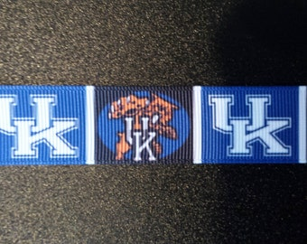 "7/8"" University of Kentucky Wildcats Inspired Grosgrain Ribbon"