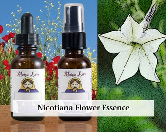 Nicotiana Flower Essence, 1 oz Dropper or Spray for Deep Inner Peace, Quitting Smoking Addiction