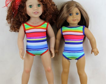 Swimsuit Swimmers Swimwear Togs - Doll Clothes One size fits Australian Girl Doll, American Girl Doll or similar 18 and 20 inch dolls I74/5