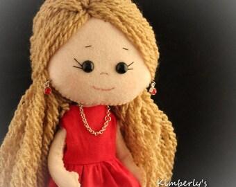 Felt doll - July- Gingermelon doll