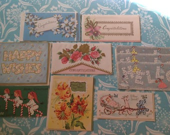 Lot of vintage cards, unused cards, retro cards, assorted cards, NOS cards, thank you card, birthday cards, congratulations card