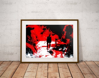 Shaun Of The Dead Horror Movie Zombie Comedy Cult Classic Simon Pegg Nick Frost Wall Art Print