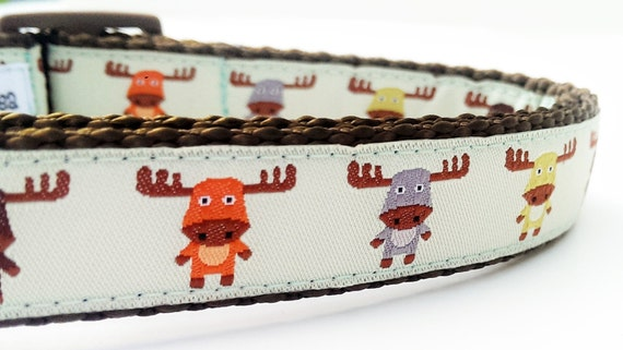 The Modern Moose - Dog Collar / Handmade / Pet Accessories / Adjustable / Moose