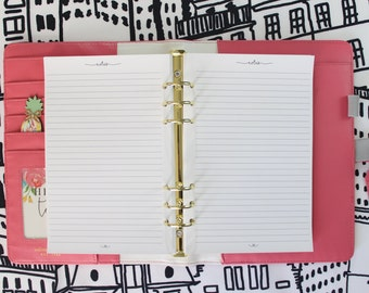 Printed Notes Half Letter Size Planner Inserts