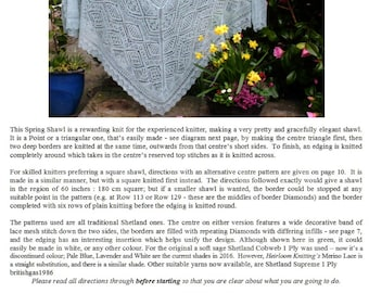 The Spring Shawl ~ Heirloom Knitting pdf ~