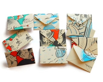 Miniature Envelopes Vintage Children's Books, Teeny Tiny Envelopes, Mini Envelopes, Vintage Paper, Mini Gift
