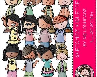 Kidlettes clip art - Sketchitz - Combo Pack