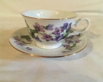 """1991 Avon """"Blossoms of the month series"""" February violet"""