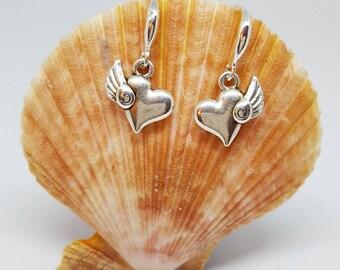 Flying Hearts Earrings