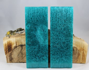 2 Pcs Turquoise Composite Knife Scales (83)