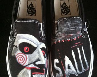 Shoes Saw The Riddler hand painted-Jigsaw handpainted shoes