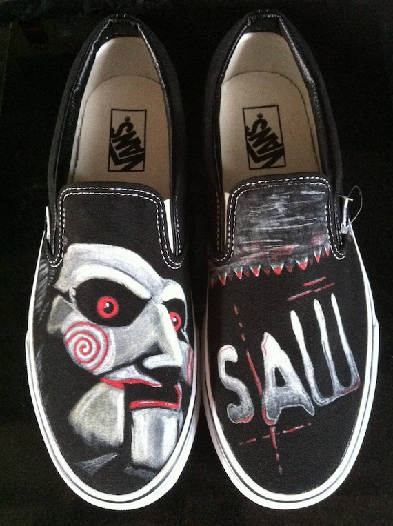 painted The Jigsaw Saw hand shoes handpainted Riddler Shoes 5qx6CwXIC