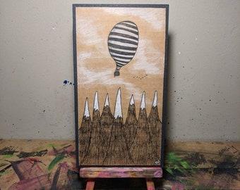 Cardboard Art - Blowing in the Wind