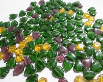 25 Vintage Double-Holed Mixed Glass Beads