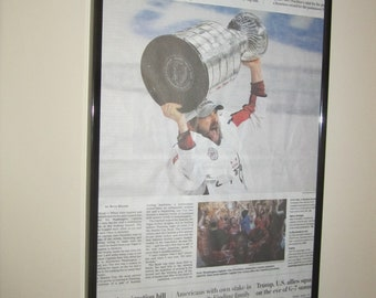 2018 NHL Stanley Cup Champions Commemorative Framed Newspaper - Washington Post