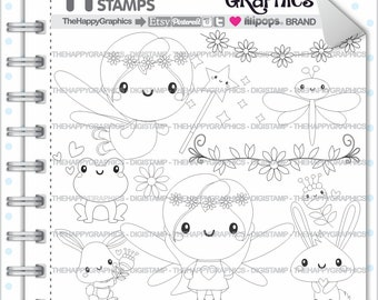 Fairy Stamp, 80%OFF, COMMERCIAL USE, Digi Stamp, Digital Image, Fairy Digistamp, Fairy Coloring Page, Spring Digistamp, Spring Digital Stamp