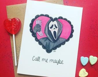 Scream Horror Valentine Card ''Call me Maybe''