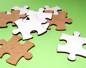 Crafts. Puzzle pieces