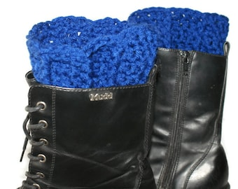 Boot Cuffs, Legwear, Blue Legwarmers, Boot Warmers, Legwarmer Boot Cuff, Winter Boot Cuff, Blue Boot Cuffs, Blue Boot Socks, Leg Cuff