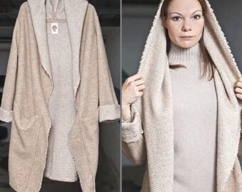 """Lange Mantel """"Tamara"""", Beige Oversized Mantel, Sweater, Beige Mantel, Wollmantel, Kleidung für Frauen, ROTETULPE"""