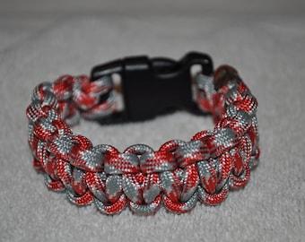 550 Paracord Bracelet (Scarlet/Gray) (Ohio State)
