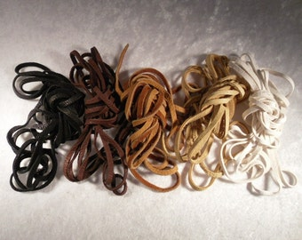 LEATHER LACES NATURAL Earth Tones for Lace Up Sandals