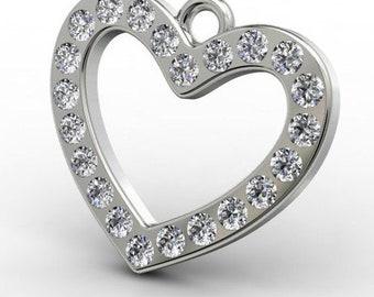Charm HEART with Swarovski elements Silver 925
