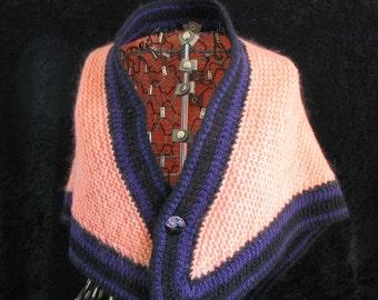 Peach Wool Shawl