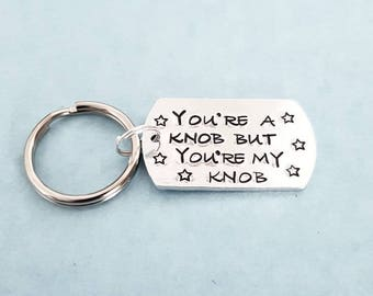 Knob|sweary|hand stamped|gift|for him|valentine|unique|quality|affordable christmas stocking filler