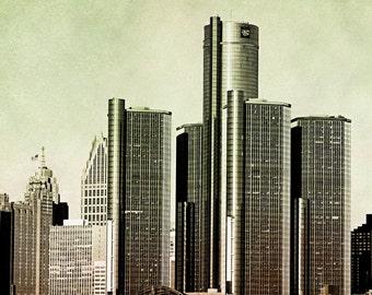 Detroit Photography - The Ren Cen - Fine Art Print - 8x8