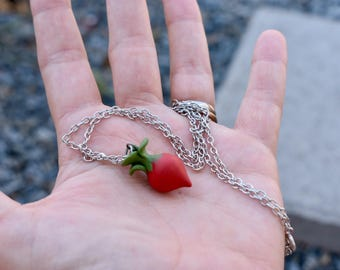 Vegetable Necklace // Beet // Gardening // Clay Jewelry