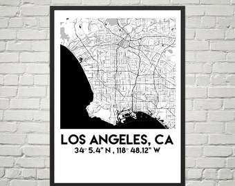 Map Poster of Los Angeles, CA (Downloadable)