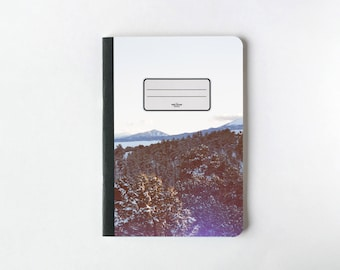 Snowed Forest Notebook - Journal - Sketchbook - The Shining - Blank pages - Lined pages