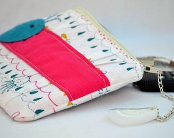Whale clutch, makeup bag, clutch purse, clutch wallet, zipper clutch, beach purse, pleated clutch, wristlet, pouch, nautical clutch