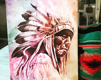 Indian Chief Canvas