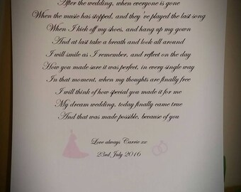 Mum and dad poem. Size A4