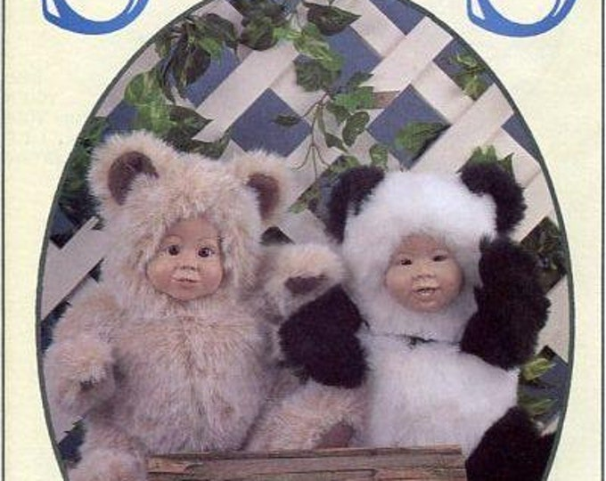 FREE US SHIP Syndee's Craft Ltd 1991 Doll's Lulu Panda, Buddy Bear New Old Store Stock Sewing Pattern