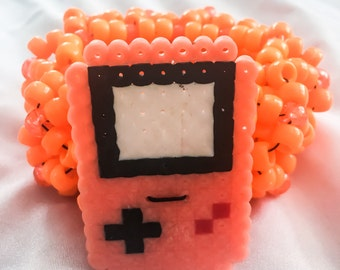 Orange Gameboy Kandi Kuff