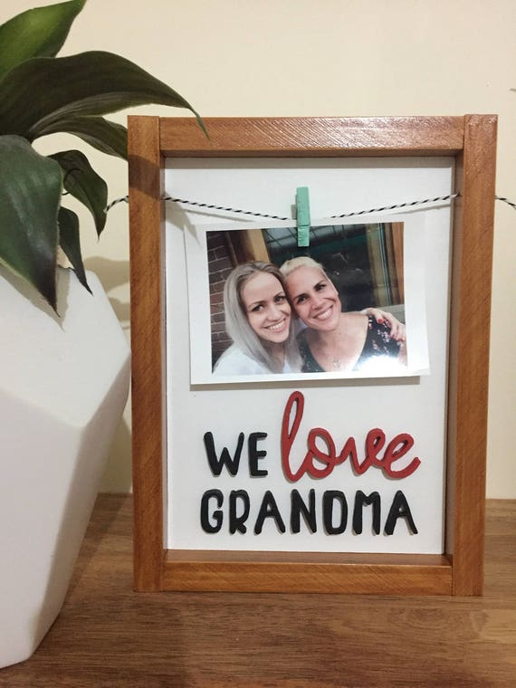 We love nanna/grandma hand cut 3D photo frame