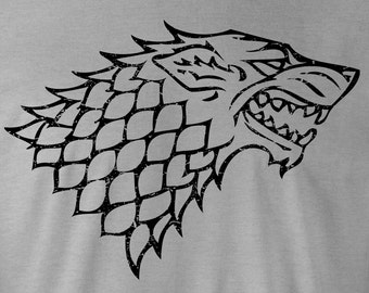 Game of Thrones Tee, Game of Thrones Stark T-Shirt, Game of Thrones Stark logo, Game of Thrones Stark Tees, Game of Thrones Stark T-Shirts
