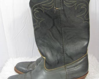 Vintage Leather Blue DINGO Cowboy Boots Western Cowgirl Boots